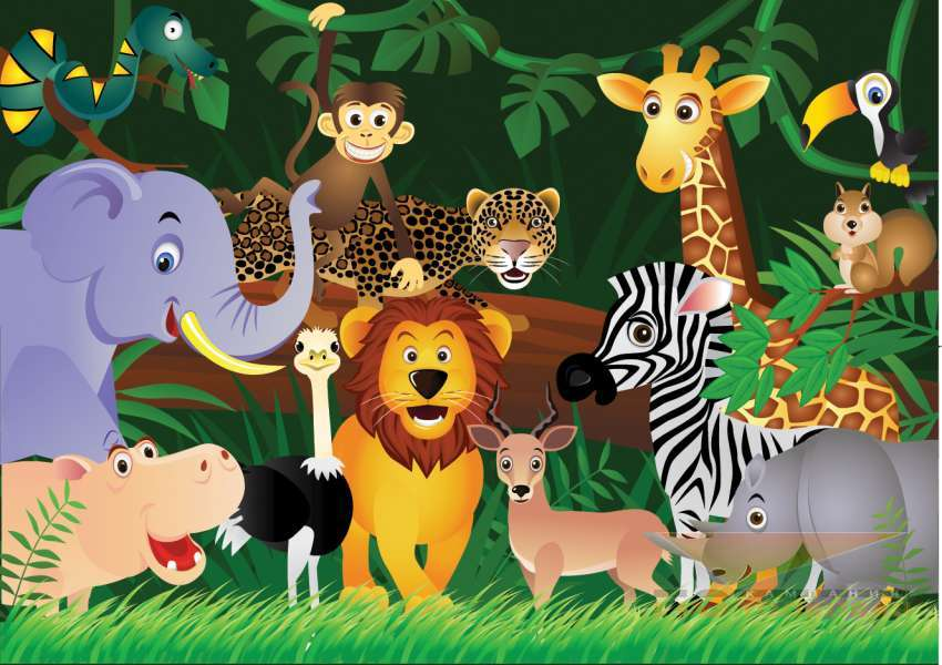 Zoo drawing for children